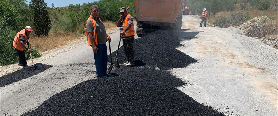 ROAD REPAIRS AT HASPOLAT-TAŞKENT ROAD BEGINS